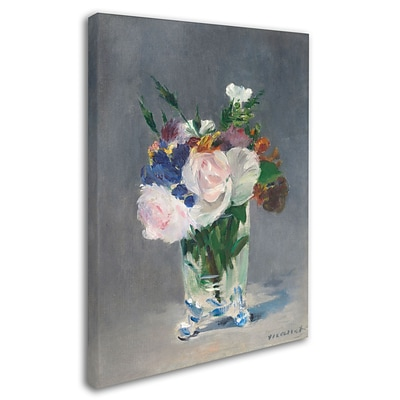 Trademark Fine Art Flowers In a Crystal Vase 1882 24 x 32 Canvas Art