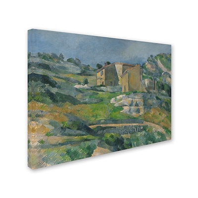 Trademark Fine Art Houses In the Provence 1833 18 x 24 Canvas Art