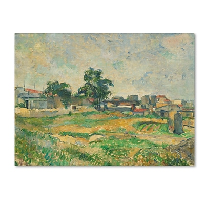 Trademark Fine Art LandScape Near Paris 1876 24 x 32 Canvas Art