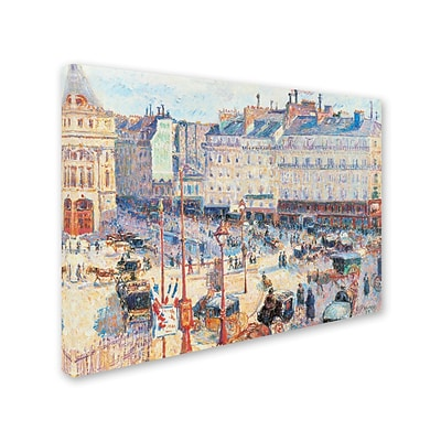 Trademark Fine Art Place du Havre 1893 35 x 47 Canvas Art