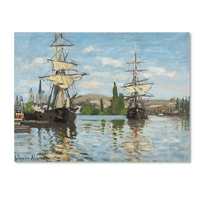 Trademark Fine Art Ships Riding On the Seine 35 x 47 Canvas Art