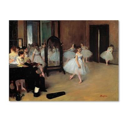 "Trademark Fine Art 'the School Of Dance 1871' 35"" X 47"" Canvas Art"