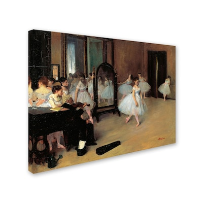 "Trademark Fine Art 'the School Of Dance 1871' 18"" X 24"" Canvas Art"