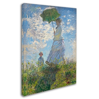 Trademark Fine Art Woman With a Parasol 1875 24 x 32 Canvas Art