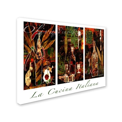 Trademark Fine Art La Cucina Italiana 35 x 47 Canvas Art