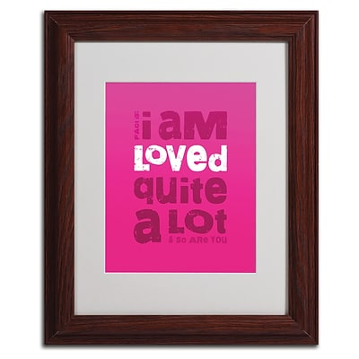 Trademark Fine Art Loved a Lot III 11 x 14 Wood Frame Art
