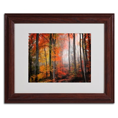 Trademark Fine Art Wildly Red 11 x 14 Wood Frame Art
