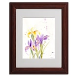 Trademark Fine Art The Golden Iris 11 x 14 Wood Frame Art