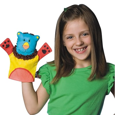 S&S® Color-Me™ 9 Fabric Animal Hand Puppets