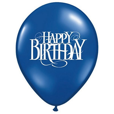 Pioneer® Balloon 11 Happy Birthday Superscript Balloon, 100/Pack
