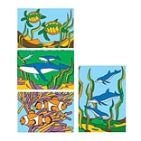 S&S® 5 x 7 Sea Life Sand Art Board, 12/Pack