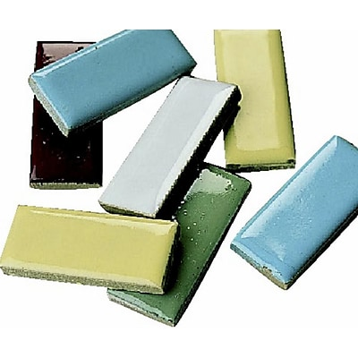 S&S® 1 x 1/2 Rectangle Shape Mosaic Tile, 5 lbs., 580/Pack