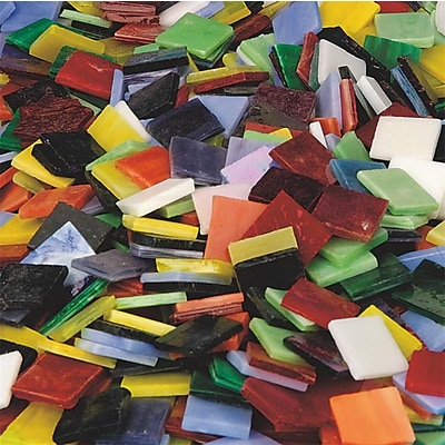 Diamond Tech 8 lbs. Mega Stained Glass Chip Assortment, 900/Bag