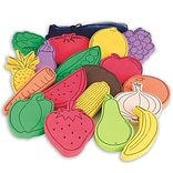 S&S® Flat Foam Foods, Fruit and Veggies, 18/Set
