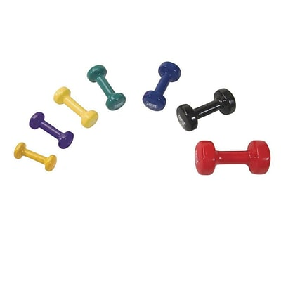 Power Systems® Deluxe Vinyl Coated Dumbbells, 8 lbs.