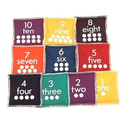 S&S® Number Bean Bags, 10/Set
