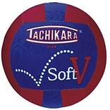 Tachikara® Soft-V™ Training Volleyball, 25.6 - 26.4, Scarlet/White/Royal