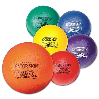 Gator Skin® Official Adult Dodgeball, 8.3(Dia.), Assorted, 6/Set