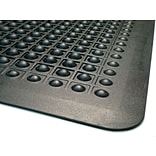 Guardian Flex Step Polypropylene Anti-Fatigue Mat 36 x 24, Black