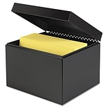 MMF™ Industries SteelMaster® 7 1/4 x 9 7/8 x 8 3/4 Index Card File; Black