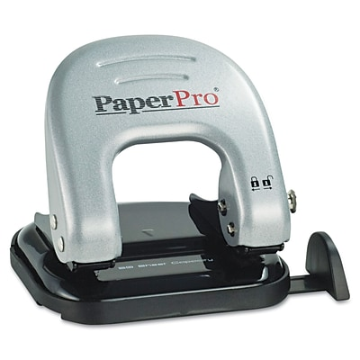 PaperPro® inDULGE™ 20 Two-Hole Punch, 20 Sheets/20 lb., Silver