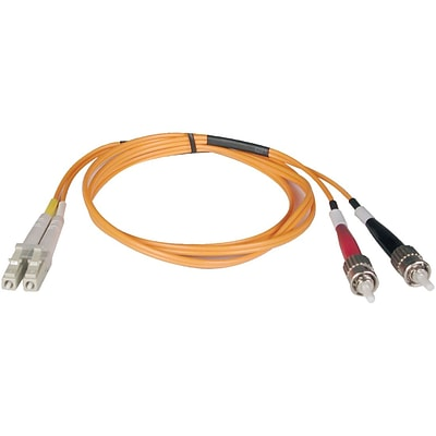 Tripp Lite 16 Fiber Optic ST/LC Duplex Patch Cable, Orange
