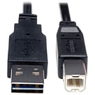 Tripp Lite 10 Universal Reversible USB 2.0 A Male to B Male USB Cable; Black