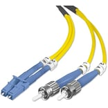 Belkin™ 6.6 Fiber Optic Singlemode LC/ST Duplex Patch Cable; Yellow