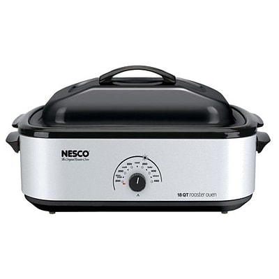 Nesco® 18 qt Roaster Electric Oven With Porcelain Cookwell; Silver
