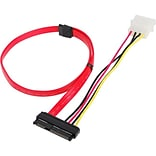 Siig® 1.48 SFF-8482 to SATA Cable With LP4 Power; Red