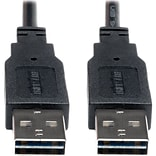 Tripp Lite Universal Reversible 6 USB 2.0 A/A Male USB Cable; Black