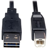 Tripp Lite Universal Reversible 6 USB 2.0 A/B Male USB Cable; Black