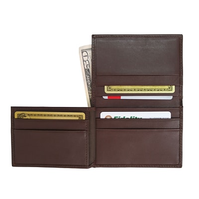 Royce Leather Mens Flip Credit Card Wallet, Coco