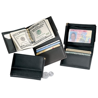Royce Leather CLIP Wallet, Black