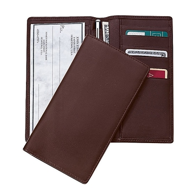 Royce Leather Checkbook & Secretary Coco