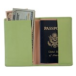 Royce Leather Passport Holder, Key Lime Green