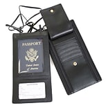 Royce Leather Security Passport Wallet, Black