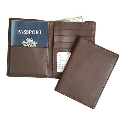 Royce Leather Passport Currency Wallet, Coco