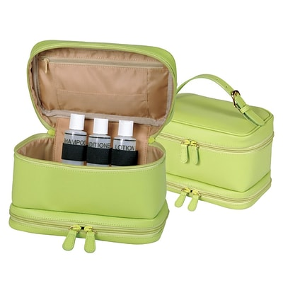 Royce Leather Ladies Cosmetic, Key Lime Green