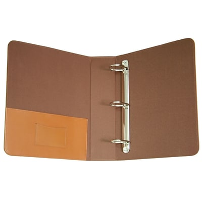 Royce Leather Ring Binder, Tan (300-TAN-8)