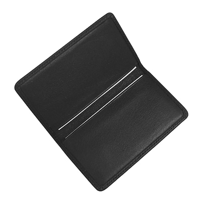 Royce Leather Business Card Case;  Black