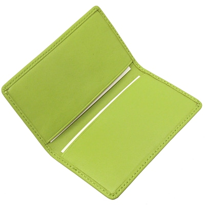Royce Leather Business Card Case, Key Lime Green