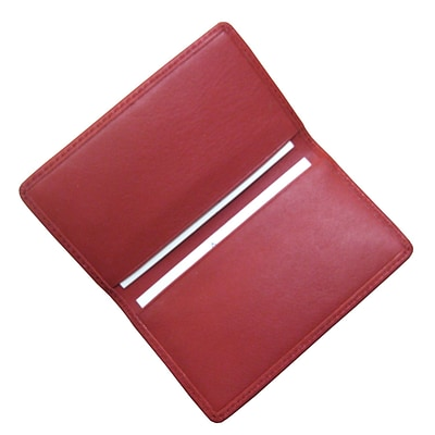 Royce Leather Business Card Case;  Red