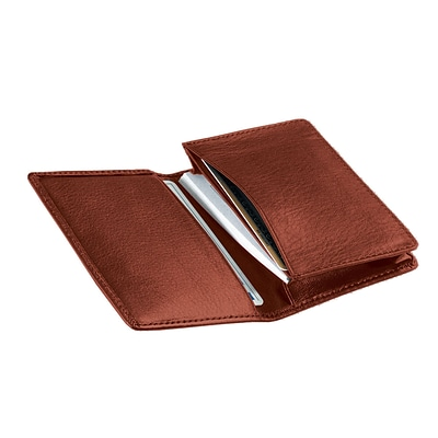 Royce Leather Business Card Case;  Tan
