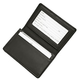Royce Leather Deluxe Card Holder, Black