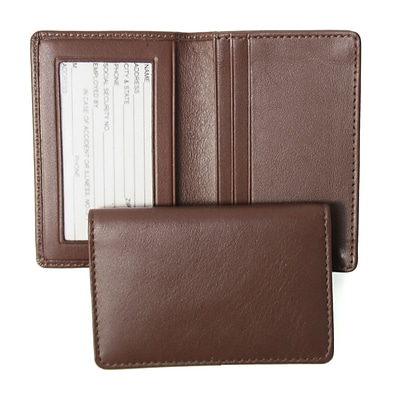 Royce Leather Deluxe Card Holder, Coco