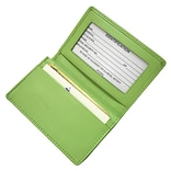 Royce Leather Deluxe Card Holder, Key Lime Green
