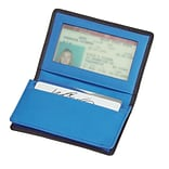 Royce Leather Deluxe Card Holder Metro Collection, Ocean Blue