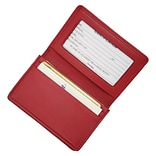 Royce Leather Deluxe Card Holder, Red