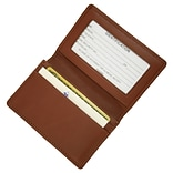 Royce Leather Deluxe Card Holder, Tan